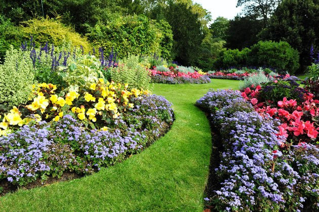 Flowerbeds and Garden Path