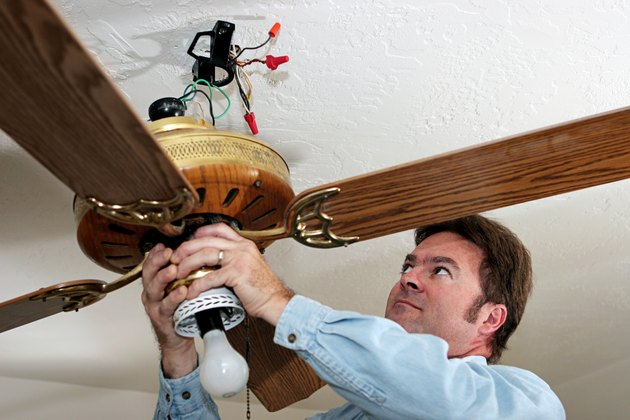 Replace worn-out ceiling fan reverse switches. It's rare for these switches to break, but occasionally a switch will allow the fan to rotate in only one direction.