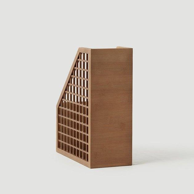 bamboo magazine holder