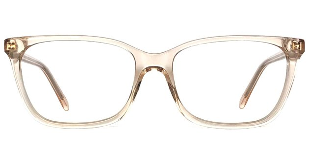 pink translucent blue light eyeglasses