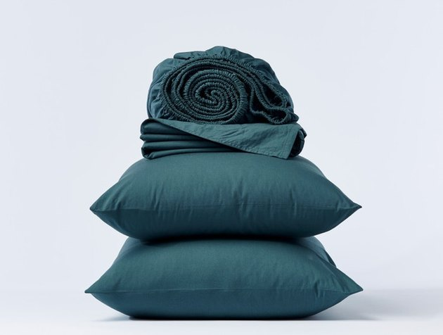 eco-friendly sheets Coyuchi Organic Crinkled Percale Sheets, starting at $88