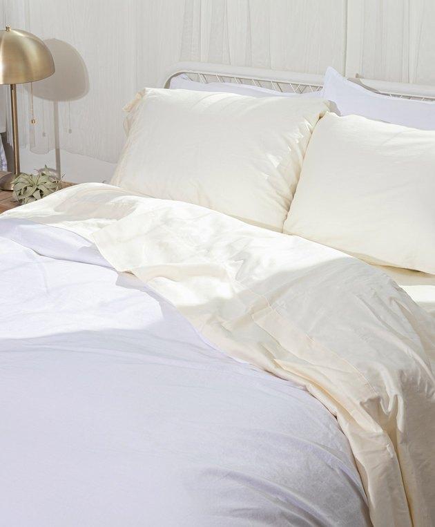 eco-friendly sheets Pact Room Service Sheet Set, starting at $130