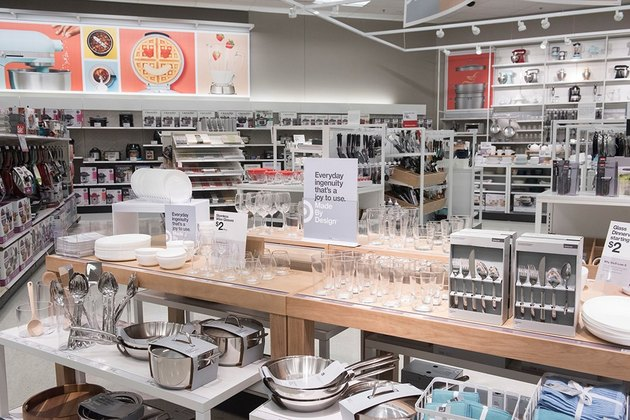 kitchen section at target