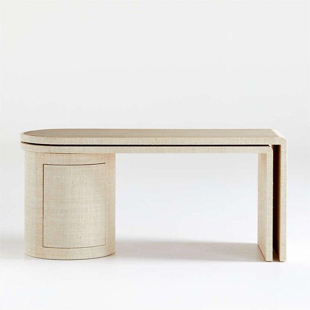round desk in light color