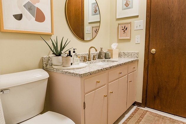 Enjoy your updated bathroom vanity in its new modern color.