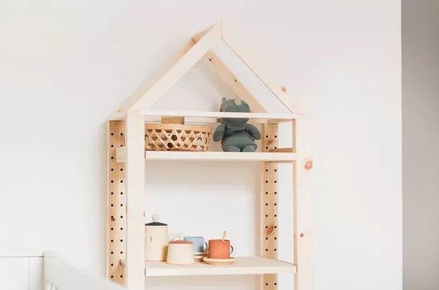 IKEA shelving unit hack for bedroom