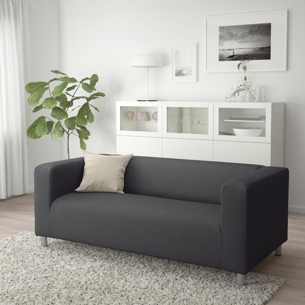 gray loveseats for small spaces from IKEA