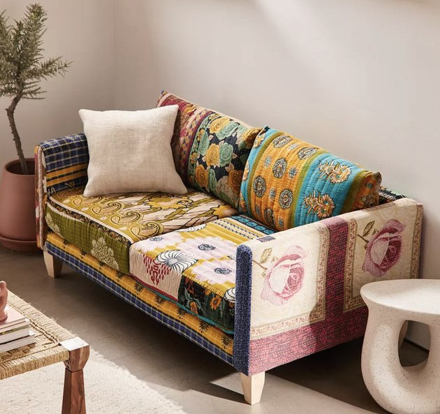 patchwork loveseats for small spaces from Urban Outfitters