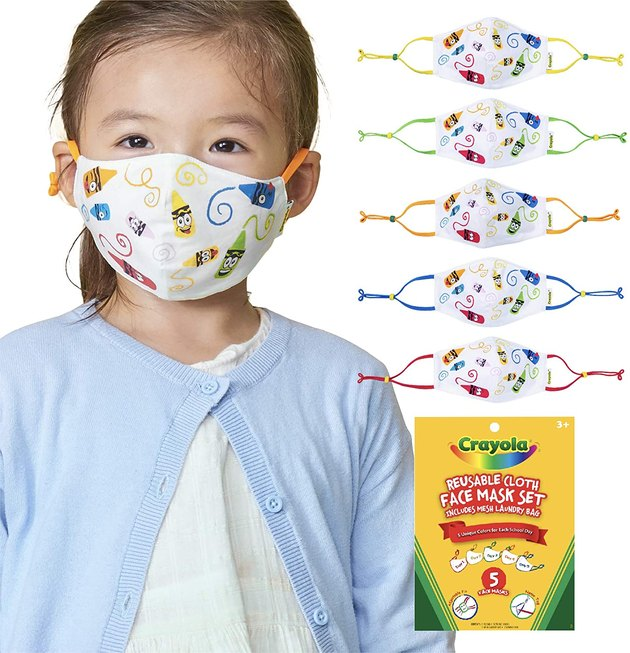 Crayola 5-Pack Kids Face Masks