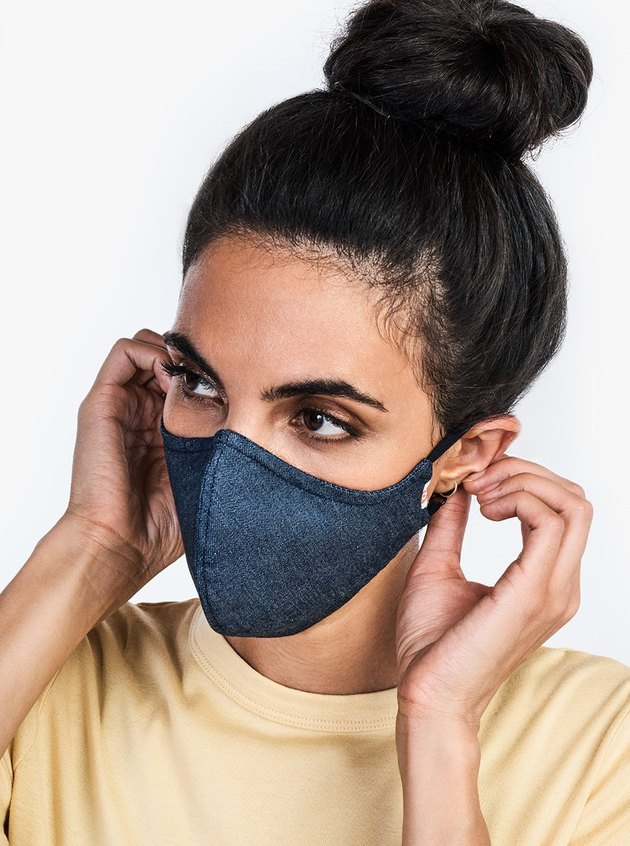 Hedley & Bennett The Wake Up & Fight Mask in blue