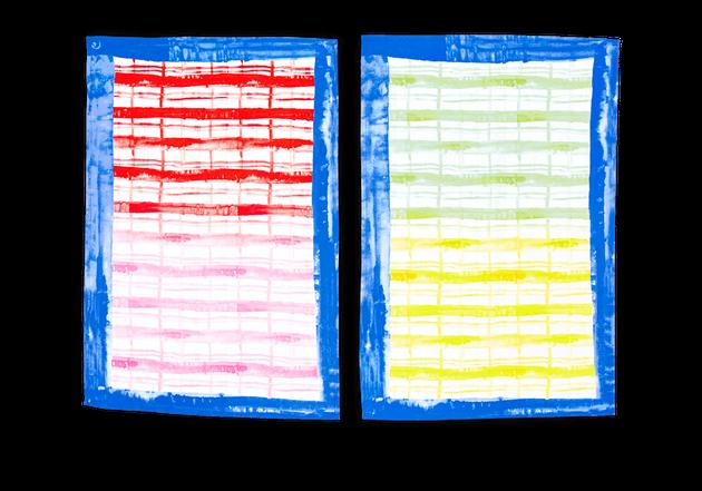 colorful plaid tea towels