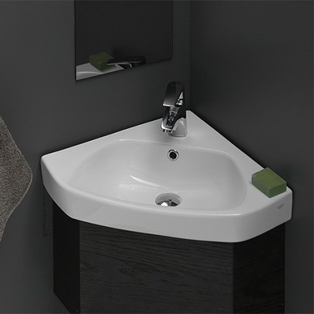 Ceramic Bathroom Sink Small Corner Ceramic Drop In or Wall Mounted Bathroom Sink from The Bath Outlet
