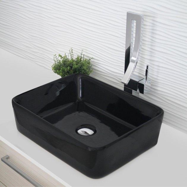 Ceramic Bathroom Sink Ceramic Rectangular Vessel Bathroom Sink from Wayfair