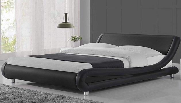 Amolife Upholstered Full Bed Frame/Deluxe Solid Modern Platform Bed,