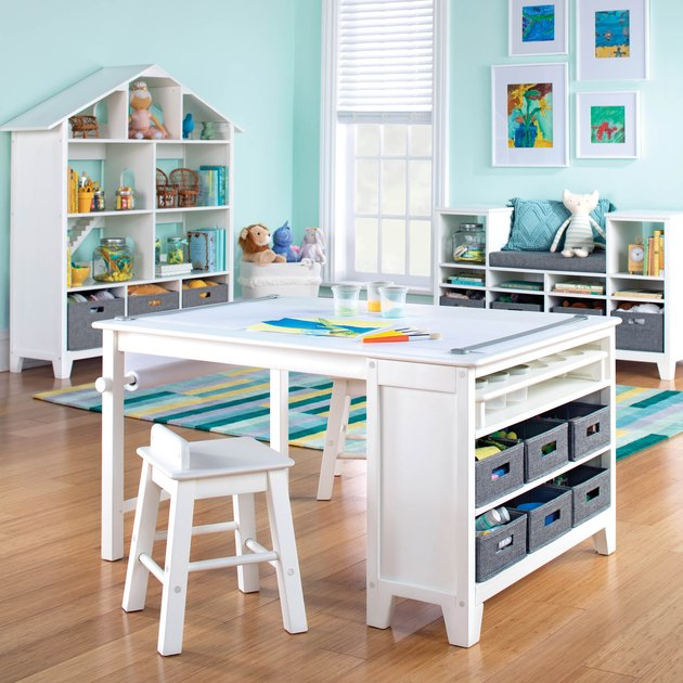 Martha Stewart Living and Learning Kids' Art Table and Stool Set in White