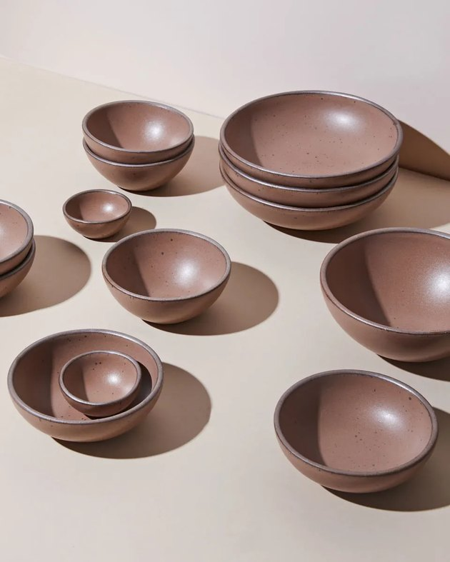 bowls in pinto glaze