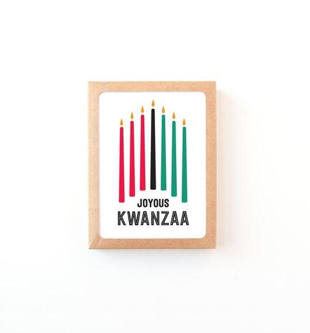 joyous kwanzaa greeting card