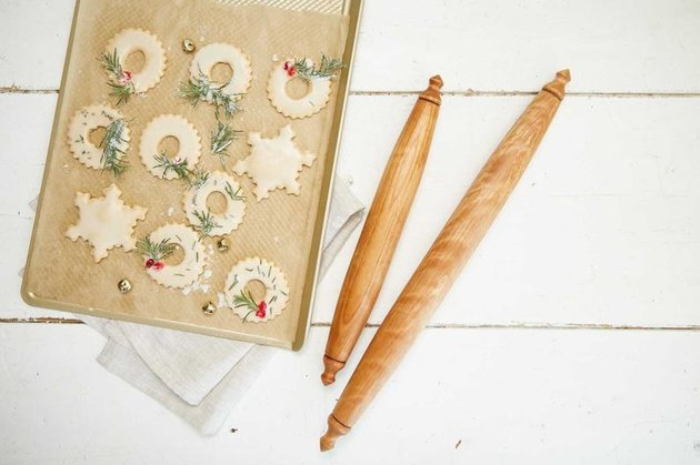 wood rolling pin set