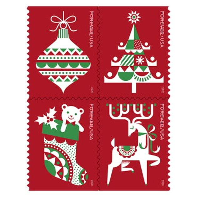 christmas themed stamps