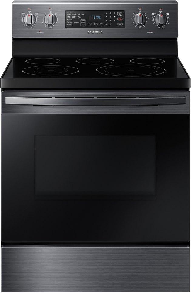 black flat top electric stove