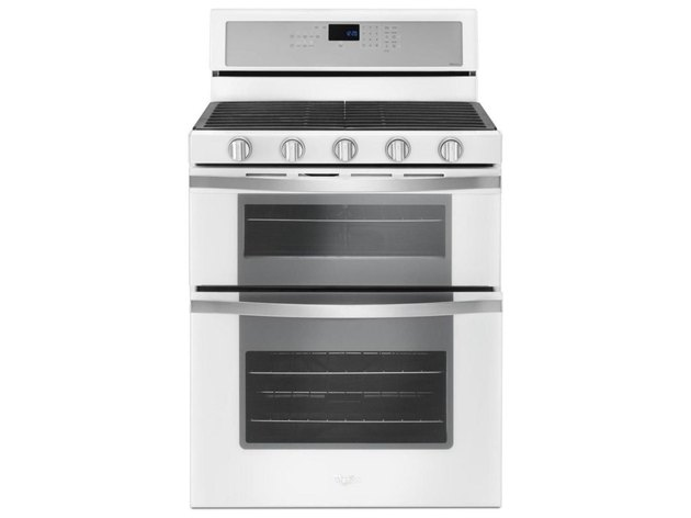 white flat top electric stove