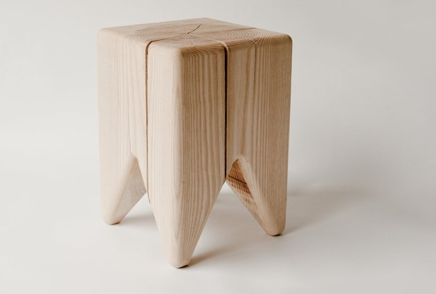 eco-friendly furniture with wooden stool