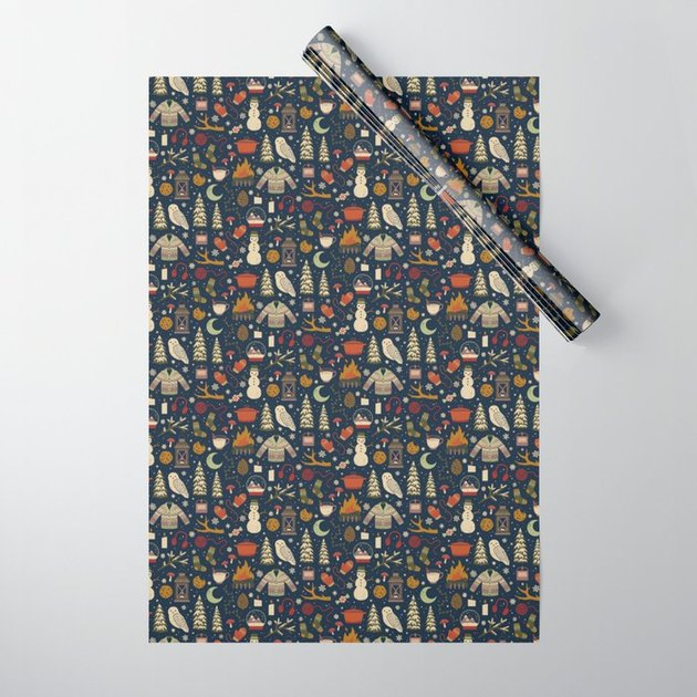 Society6/Camille Chew Winter Nights Wrapping Paper, $9.60