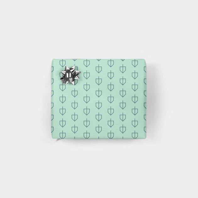Hellomart Minimalist Dreidel Gift Wrap (1 sheet), $4
