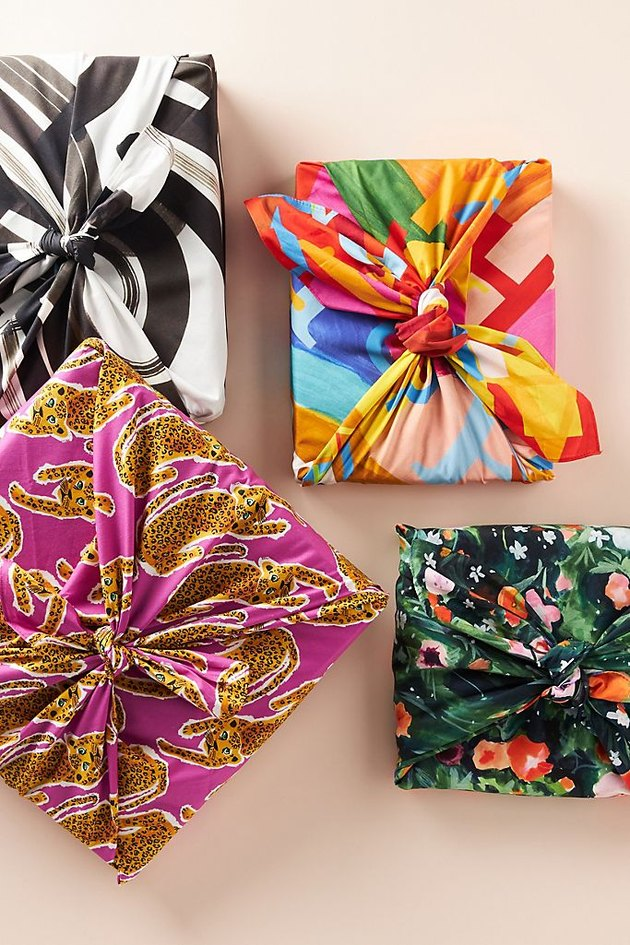 Furoshiki Holiday Wrapping Cloth, $18