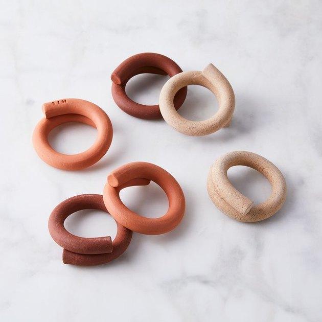 SIN coil napkin rings
