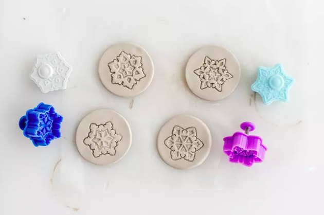 Clay ornaments with cookie cutters