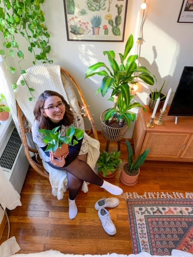 KC Cibran at home in her favorite chair