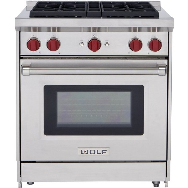 "Wolf 30"" Gas Range, $5,390 eco-friendly stove oven"