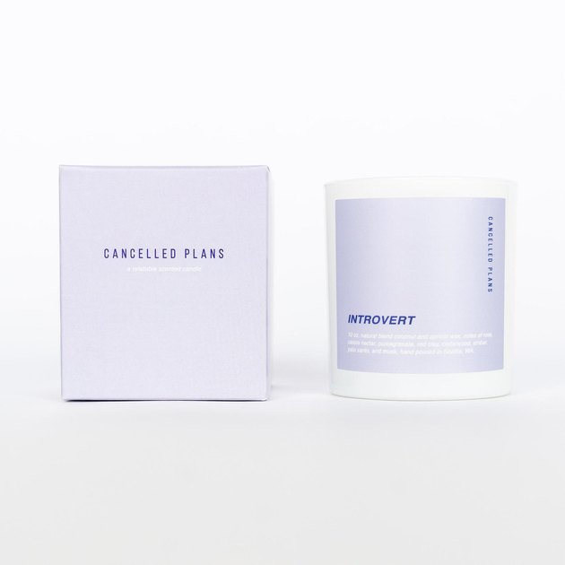 Cancelled Plans Introvert Candle, $32