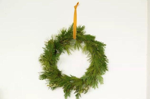 Foraged holiday wreath