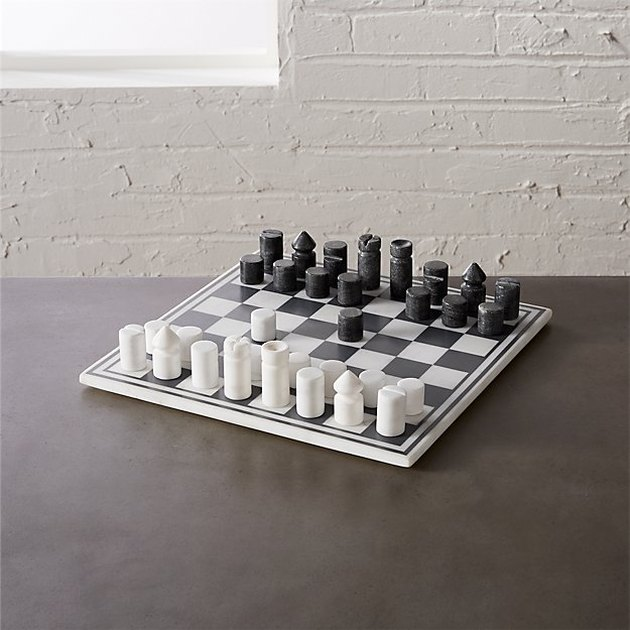 CB2 Marble Chess Game, $99.95