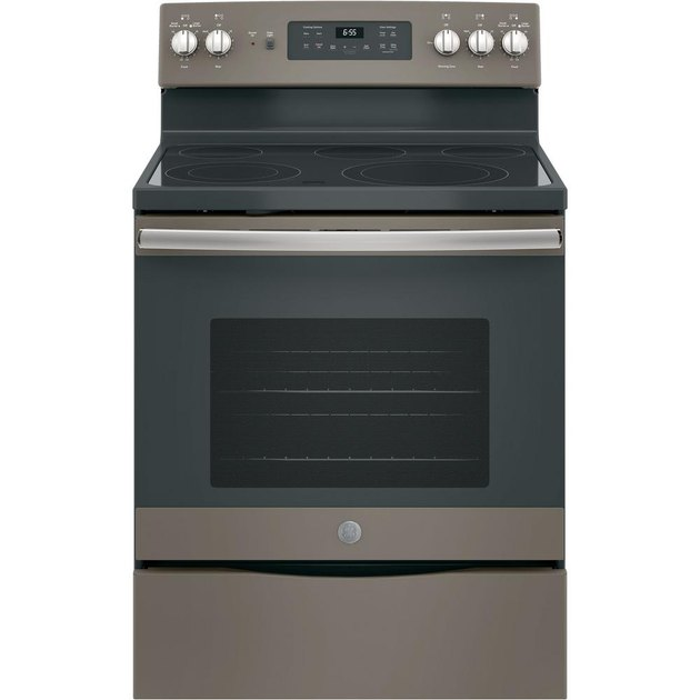 bronze stainless steel flat top electric stove