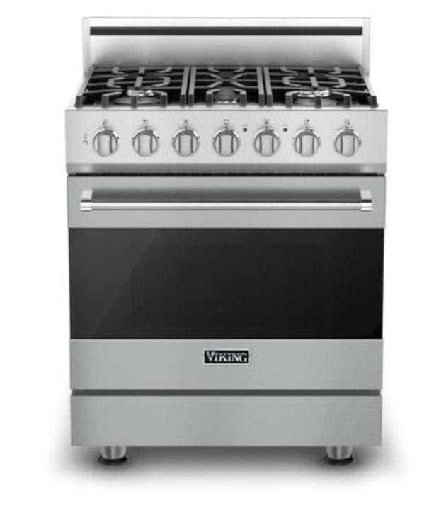 stainless 5 burner viking stove