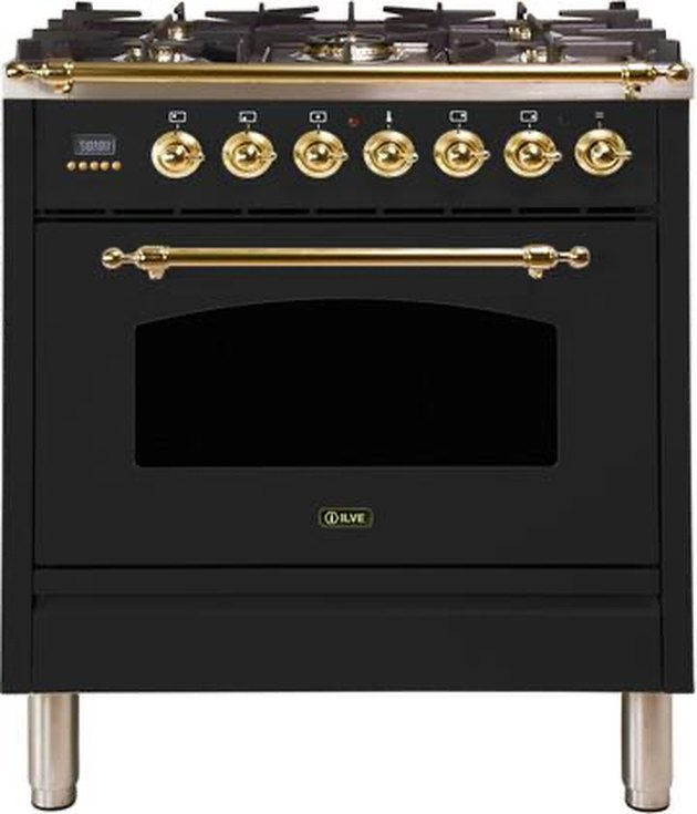 Freestanding Dual Fuel Range with Natural Gas, 5 Sealed Brass Burners, 2.7 cu. ft. Total Oven Capacity, Convection Oven
