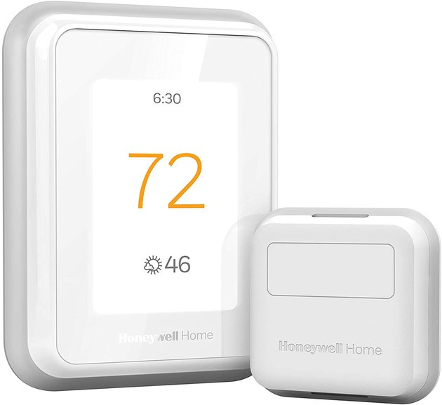 White rounded rectangular thermostat