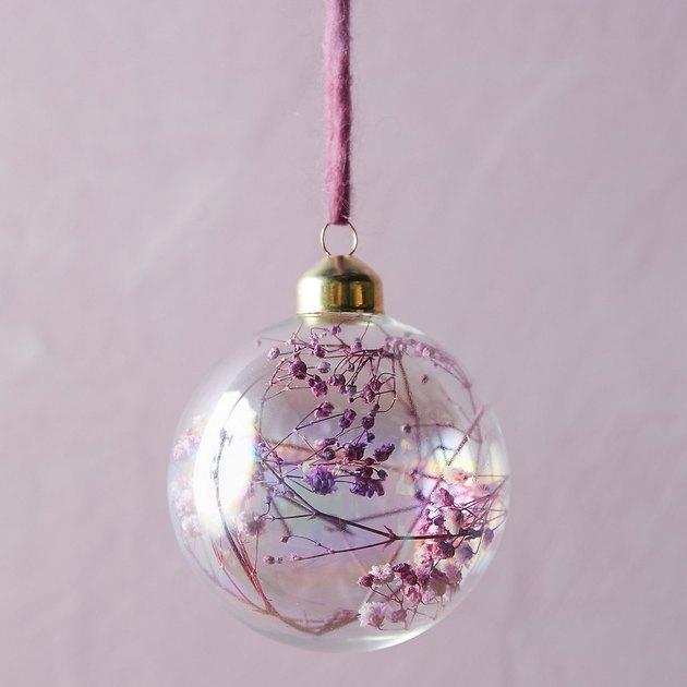 Terrain Dried Florals Glass Globe Ornament, $8