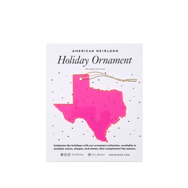 American Heirloom Texas Holiday Ornament, $14