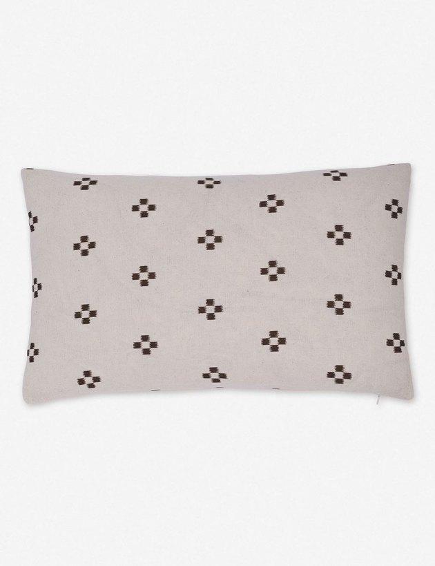patterned lumbar pillow
