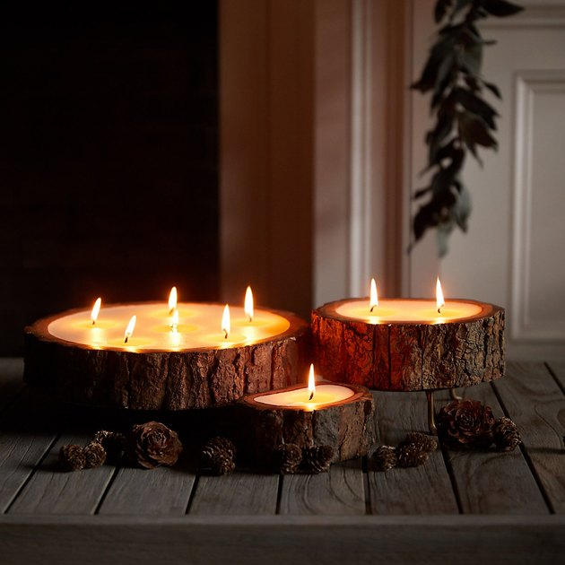 tree bark candles