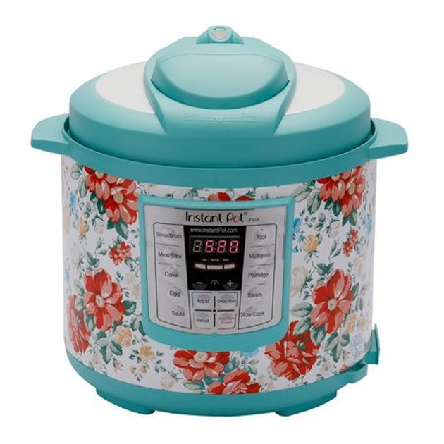 teal and floral Instant Pot slow cooker