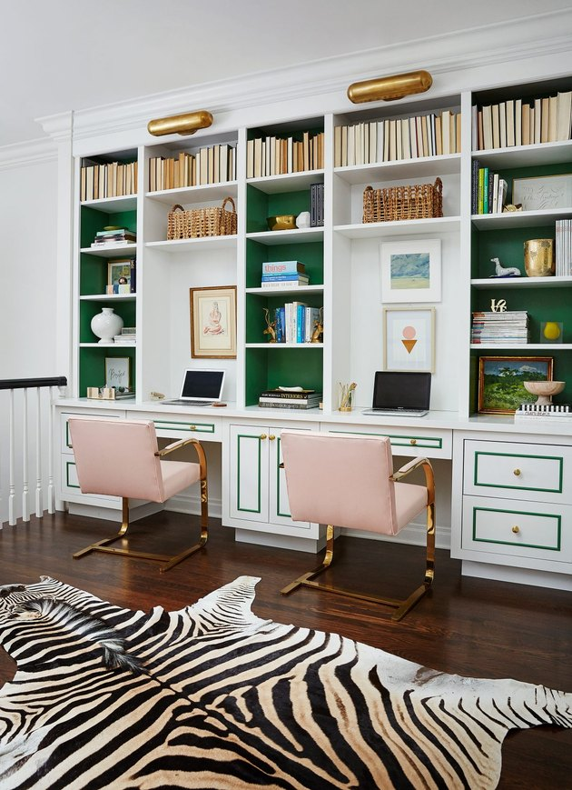 Desk Organization Ideas with Organized home office set-up with built-ins by Amie Corley