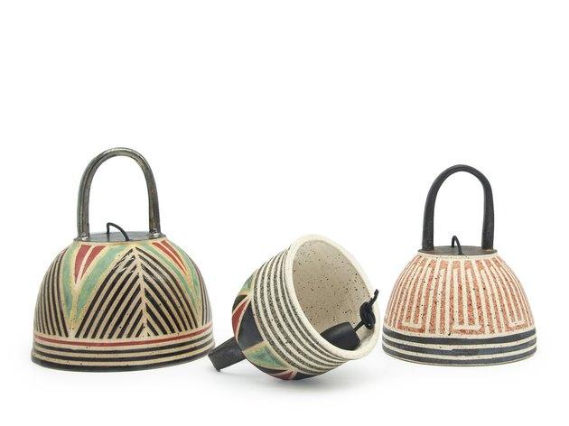 Patterned ceramic bells