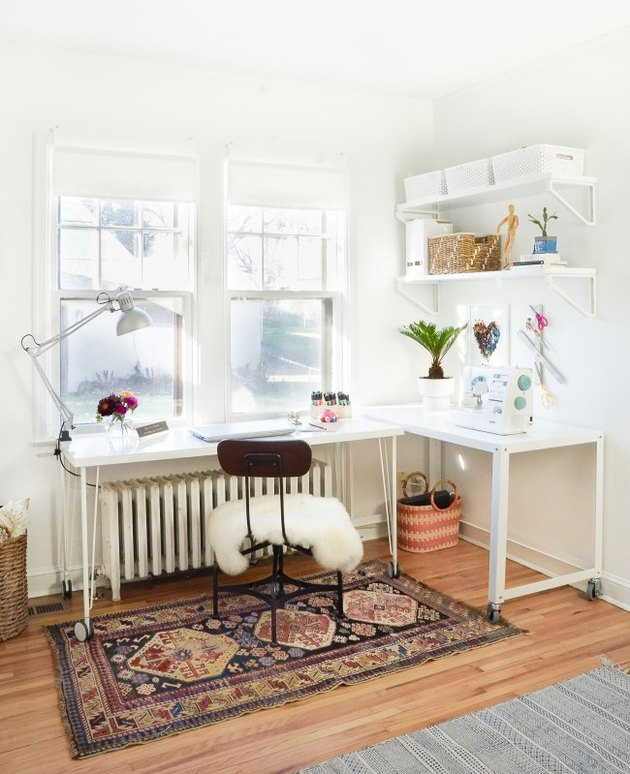 Desk Organization Ideas with Two white desks create an organized home office by Francois et Moi