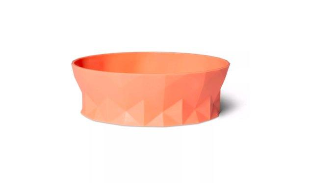 orange cat bowl
