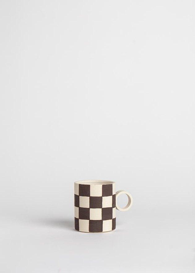 mug with checkered pattern